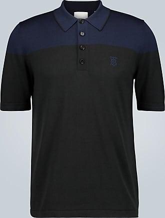Burberry Silk and cashmere-blend polo shirt
