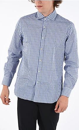 Corneliani ID Tattersal Check Spread Collar Shirt size 40