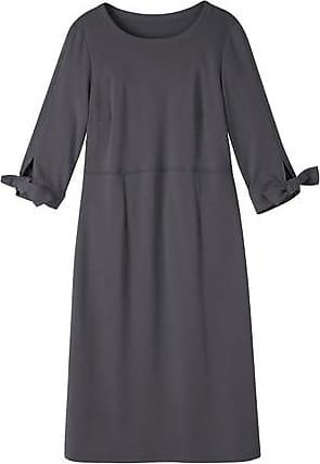 Enna Jerseykleid mit geknoteten Ärmel aus Bio-Baumwolle, anthrazit