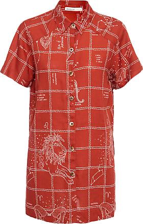 Dress To Camisa Estampa Fogo - Vermelho