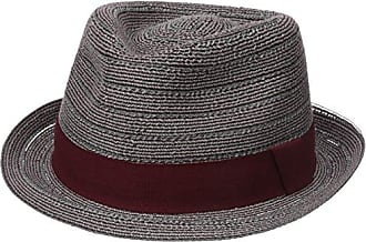 Henschel Mens Fedora with Light Viscose Braid with Solid Band, Burgundy, X-Large