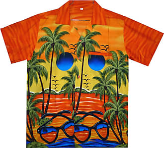 V.H.O. Funky Hawaiian Shirt, Sunglasses orange,XXL