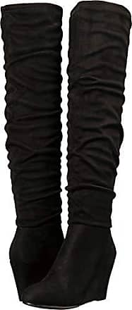 2693ce53583 Chinese Laundry Womens UMA Over The Over The Knee Boot Black Suede 7.5 M US