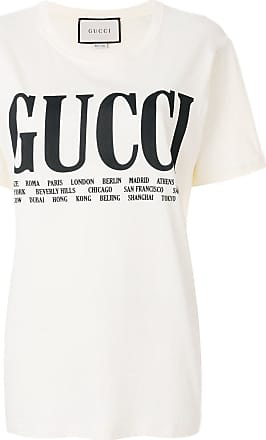6403e158c5b Gucci cities print T-shirt - Neutrals