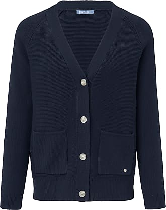Day Like Cardigan long raglan sleeves in 100% cotton DAY.LIKE blue