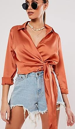 Missguided Satin Wrap Top at Forever 21 Rust