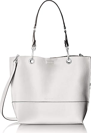 2ef3258ede3 Calvin Klein Womens Sonoma Reversible Novelty North/South Tote Bag, White  One Size