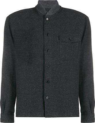 Ymc You Must Create Camisa decote arredondado com bolso frontal - Cinza