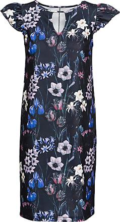 Bodyflirt Dam Blommig klänning i blå utan ärm - BODYFLIRT 9b7115c9f6234