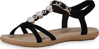Scarpe Vita Women Strap Sandals Decorative Pearls Flower 194464 Black UK 5.5 EU 39