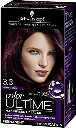 5b984b2378f9f8 Schwarzkopf Color Ultime Hair Color Cream, 3.3 Amethyst Black (Packaging  May Vary)
