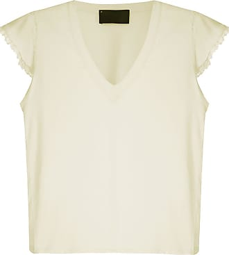 Andrea Bogosian T-shirt Pleasure detalhes rendados - Amarelo