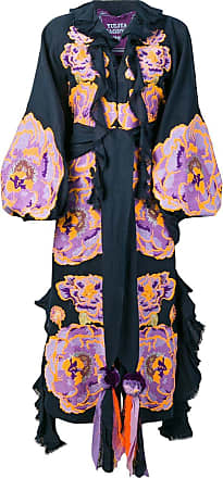 Yuliya Magdych Marigold embroidered caftan dress - Blue