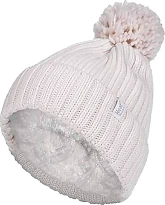 Heat Holders Ladies Thick Chunky Ribbed Cuffed Thermal Insulated Winter Pom Pom Bobble Hat (One Size, Cream (Arden))