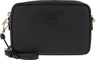 Prada Crossbody Bag Medium Saffiano Leather Black Umhängetasche schwarz