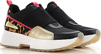 Michael Kors Slip on Sneakers for Women On Sale in Outlet, Black, Leather, 2019, 3.5 4 4.5 7