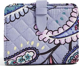 Vera Bradley Womens Iconic Signature Cotton RFID Small Wallet, Makani Paisley, One Size