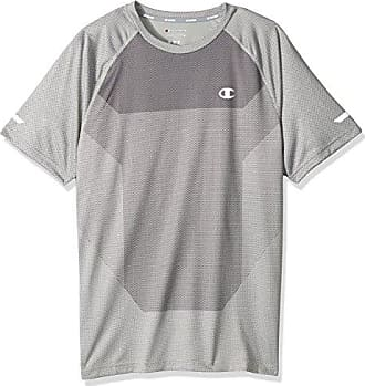 Champion Mens Outdoor Training Short Sleeve Tee, Oxford Grey, Small