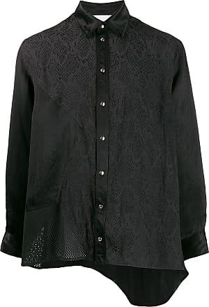 Koché Camisa assimétrica com estampa pele de cobra - Preto