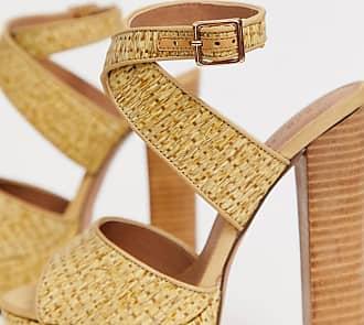 b5232de643e8 Asos Hutchinson platform block heeled sandals - Beige