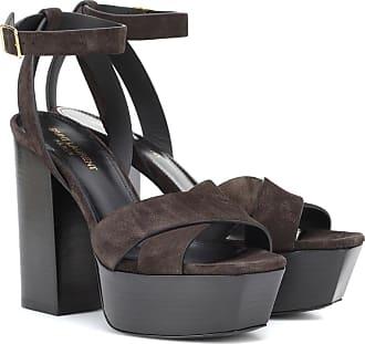 Saint Laurent Farrah 125 suede platform sandals