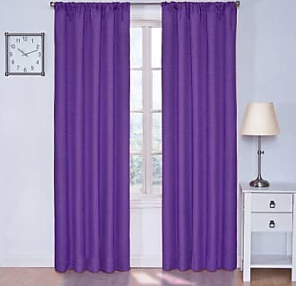Eclipse Blackout Curtains for Bedroom - Kendall 42 x 84 Insulated Darkening Single Panel Rod Pocket Window Treatment Living Room, Purple