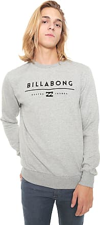 c34c93261d83c Billabong Moletom Flanelado Fechado Billabong Originals B Cinza