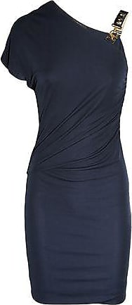 5ae72e8d8e Gucci Gucci Woman Leather-trimmed Ruched Jersey Mini Dress Navy Size L