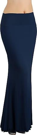iLoveSIA Womens Bodycon Long Stretch Skirt Jersey Maxi Dress Deep Blue UK Size 10-12