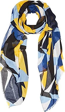 3228d00a59 Tommy Hilfiger Printed Colorblock Scarf Echarpe, Bleu (Blue Mix 901),  Unique (