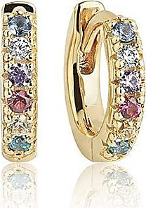 Sif Jakobs Jewellery Earrings Ellera Piccolo - 18k gold plated with multicoloured zirconia