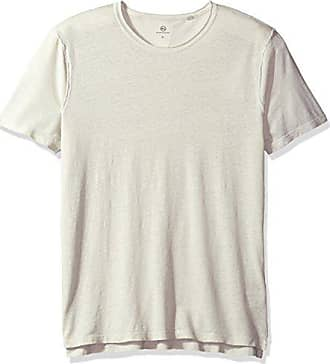 AG - Adriano Goldschmied Mens Theo S/s Crew in Pigment Anchor Grey, Large