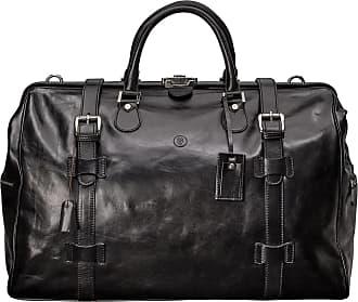93a73690a82e Maxwell Scott Maxwell Scott - Luxury Black High Quality Luggage Bag
