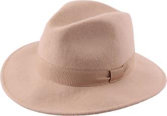2c0caea6194476 Modissima Fedora Hat Wool Felt Men Traveller Cavalier - Size 60 cm - Camel