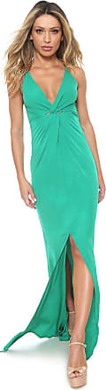 Colcci Vestido Colcci Longo Fenda Verde