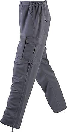 James & Nicholson Mens Zip-Off Pants (L) (Carbon Grey)