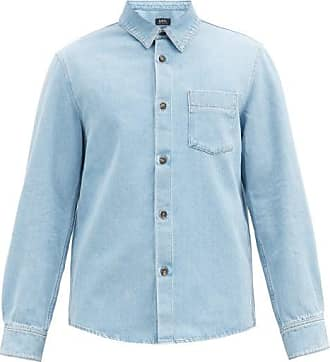 A.P.C. Victor Patch-pocket Denim Shirt - Mens - Blue