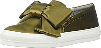 Nine West Womens ONOSHA Satin Sneaker, Green, 7.5 M US