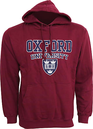 Oxford University Mens Print Hooded Sweatshirt Jumper/Hoodie Top (XXL - 50inch - 52inch) (Maroon)