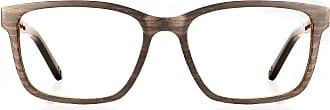 Fresh for Pandas Blue Light Blocking Computer Glasses Zebra Wood Dark Striped Rectangular Eyeglasses Model: 4017B