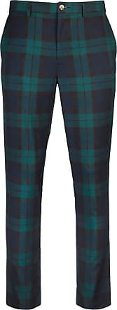 Glenmuir Mens Lightweight Performance Golf Trousers (Tartan, 38 Regular [31])
