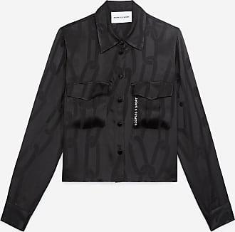 The Kooples Black shirt with tone-on-tone chain motif - WOMEN