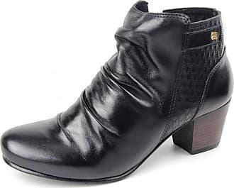 Perlatto Bota Coturno Perlatto Ankle Boot Com Elástico Cano Baixo Preta