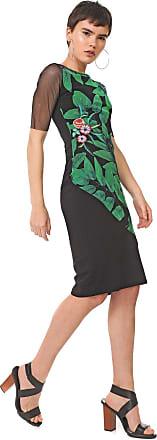 Desigual Vestido Desigual Midi Brooklyn Preto/Verde