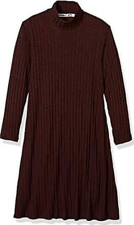 Michael Stars Womens Jasper Poorboy 3/4 Sleeve Mock Neck Swing Dress, Bourbon, XS