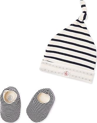c8832b956 Petit Bateau Conjunto de gorro y calcetines para bebé