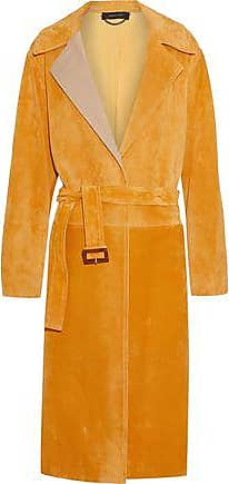 Derek Lam Derek Lam Woman Belted Suede Coat Saffron Size 38
