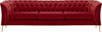 SLF24 Chesterfield Modern 3 Seater Sofa-Velluto 7-gold metal