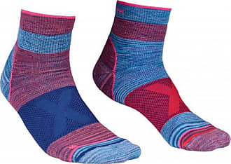 Ortovox Alpinist Quarter Socks Multifunktionssocken für Damen | blau/lila/rosa
