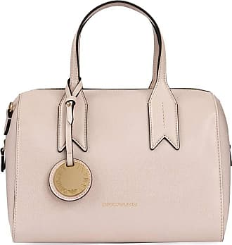Emporio Armani Frida Pink Textured Top Handle Bowling Bag Pink Leather 7424ae3dac97d